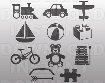 Toys Vector Art SVG File
