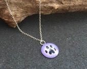 Paw Print Necklace - Sprinkles Jewelry by JGD