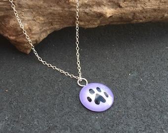Paw Print Necklace - Sprinkles Jewelry by JGD