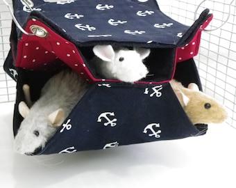 Rat Hammock, honeycomb Hammock,BitsOHeaven Hammock, 3 level hammock Rat Bed, Rodents Hammock,Small pet hammock, rat hammock A