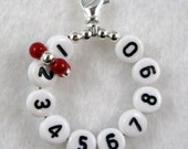 Fire Engine Red Removable 10 Row Counter Stitch Marker - Item No. 933