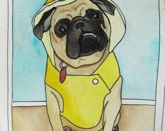 Custom Pet Portrait Illustration - Pet Portraits - Pet Art - Custom Art - Pet Watercolor Painting - Custom Pet Painting