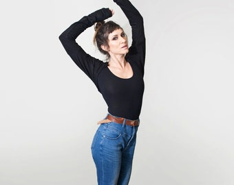 Women's Super Long Sleeve Shirt • Dancer Style Shrug • Oversized Top • Off the Shoulder • Open Back • Loft 415 Clothing (No. 216)