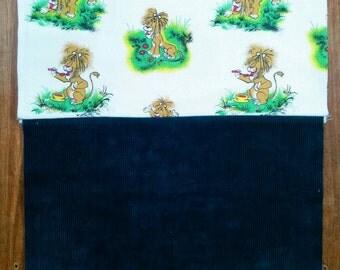 Personalised name bag, tawny scrawny lion