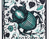 E for Escarabajo - beetle...