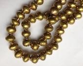 10 Ethiopian brass spacer beads, brass beads, Ethiopian beads, bronze beads, gold beads, spacers, craft supplies
