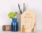 Personalised Dad's Shed Desk Tidy  - gift for men - office desk accessories - office decor - pen holder - pen pot - pencil box