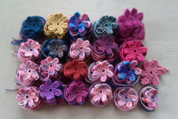 Crocheted flowers for Lindi Williams