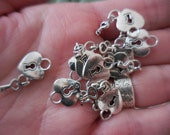 50 count Key to my Heart DIY jewelry making Supplies Charm Findings Charms for bracelet