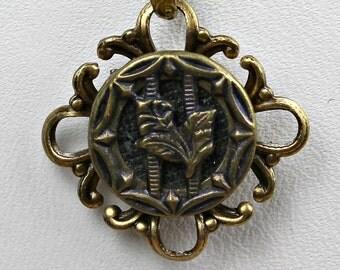 Antique Victorian Perfume Button Necklace