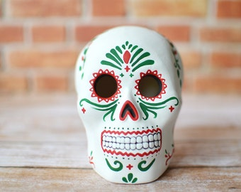 Day of the Dead Sugar Skull Sculpture - Christmas