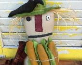 PreHalloweenSale Primitive Scarecrow King Korn