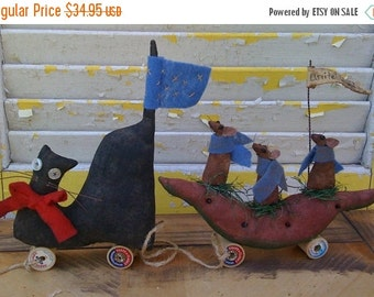 PreHalloweenSale Primitive Cat and Mouse Parade