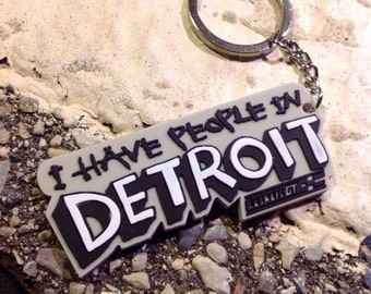 I have people in Detroit keychain design