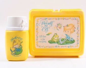Herself The Elf Vintage Lunch Box with Thermos Alddin