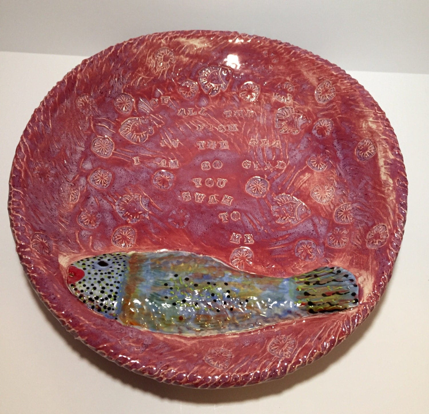 Of all the fish in the sea bowl by kellygirl on etsy for All the fish in the sea