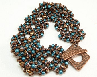Bronze Beauty Beadwoven Bracelet