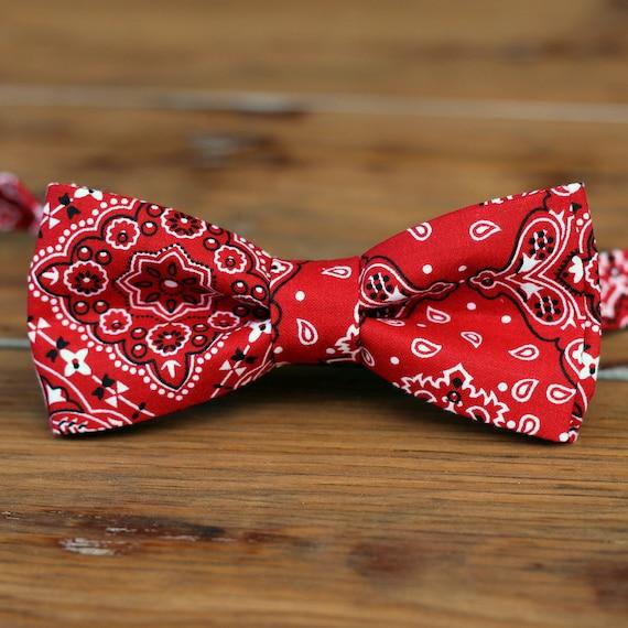 boys bandana bow tie bandanna print cotton bowtie