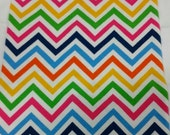 Size 0-9 Month Rainbow Chevron Hickman Hider - a stylish, comfortable accessory for children with central lines, g-tubes, NG tubes, etc.