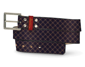 Malice Leather Belt, Angry Leather Belt, Dark Belt, Mean Leather Belt, Plaid