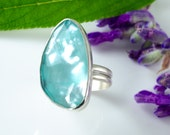 Las Islas Turquoise and Silver Ring Size 6.75 One of a Kind