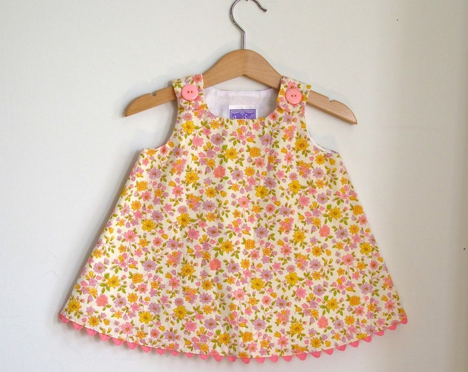Sweet Floral Newborn Dress, Baby Dress, Toddler Dress, Girls Dress, Girls Dresses, Sweet Summer Dress, Girls Outfit, Sizes Newborn to 4T