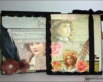 Shabby Rose Mini Album - Premade Roses Scrapbook - Fotoalbum Shabby - Photoalbum Shabby Roses
