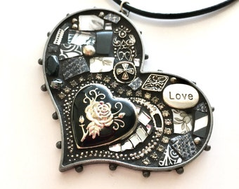 Close to my Heart Secret Locket Mosaic Art Pendant
