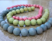 SUPPLY Fire Mountain Gems pastel colored wooden beads LOT