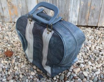 VINTAGE 2 tone GRAY bowling bag