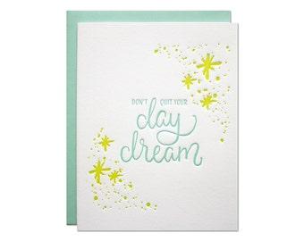 Day Dream Letterpress Card