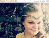 ON SALE Forest Elf Celtic Weave Circlet Renaissance Costume Crown, LOTR Elven Cosplay