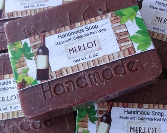 Merlot Wine Handmade Cold Process Soap