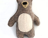 Blue Bear - Recycled Wool Sweater Plush Toy