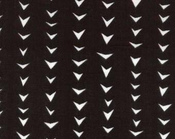 HALF YARD Ellen Baker - Roughcut - Arrows BLACK - Cotton Double Gauze - Kokka  Japanese