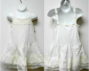 little girls white chemise . size 6X