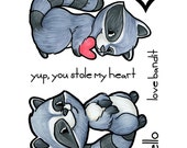Some Odd Girl Clear Cling Rubber Stamp Set -Love Bandit