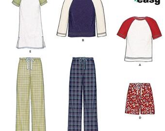 New Look Sewing PATTERN - 6404 - Unisex Sleepwear - Sz XS-XL