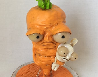 Carter the carrot and his pet rabbit