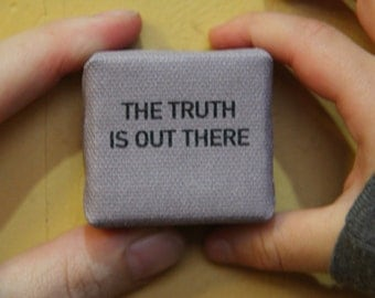 The Truth is Out There - Black Text - Mini Canvas Print