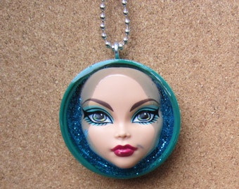 Cleo De Nile - upcycled Monster High doll necklace