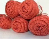 Luster Sheen Yarn 5 Plus Skeins Sugary Spice Color Sport weight yarn