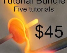 BIG SALE Naos Glass - Bundle Five Lampwork Tutorial Digital Download PDF Files - Handmade Lampwork Beads Sra