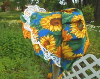 Sunbonnet Newborn Baby Sunflowers 0 to 6 months