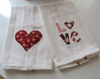 MOVING SALE!! Love Kitchen Towels Set of 2