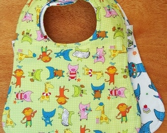 Wanawara Reversible Bib Piggy Pop & Kitten Pop
