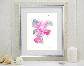 """Watercolor flowers art print: """"I Gathered My Love"""""""