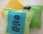 Lavender Sachets for Dryer Clothes Drawers Closets Camping Pillow Sheets Upcycled from tShirt Material SET of THREE