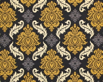 CLEARANCE Half Yard Joel Dewberry Aviary 2 Damask in Granite Fabric