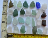 28 pieces of smooth beach sea glass sgl28